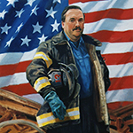 Portrait of Captain Walter Hayes Ladder 13 died on 9/11