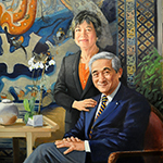 Thumbnail of portrait of Chancellor Milton and Fei Wong
