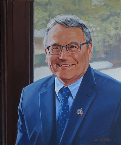 Greg Devenish Portrait of Head of School