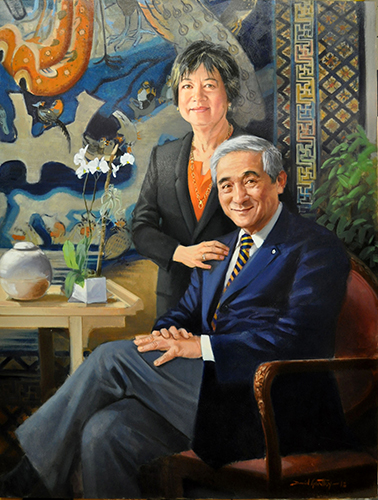 Portrait of Milton and Fei Wong