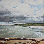 Painting of the beach at Port Rush N. Irland