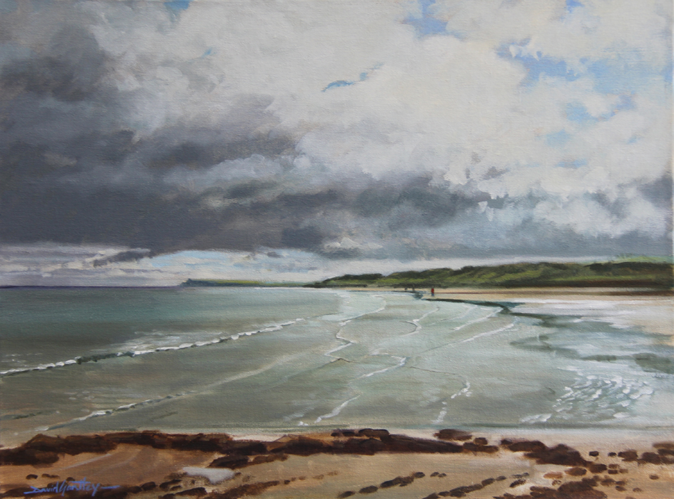 Painting of the beach at Port Rush N. Ireland